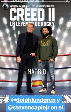 Creed 2 director Steven Caple Jr. in Jevon Terance