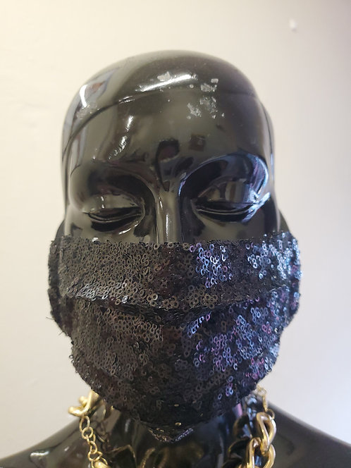 Black Sequin Mask