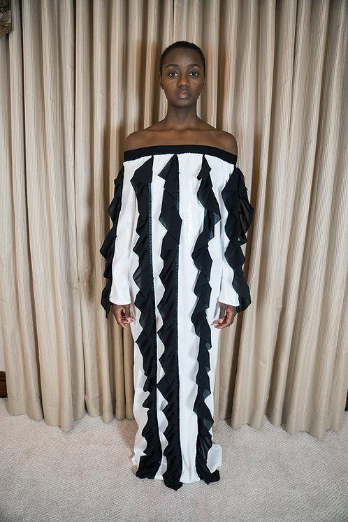 NY RUFFLE DRESS
