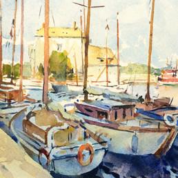 Honfleur, France, Watercolor