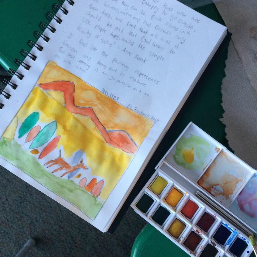 Student watercolor practice