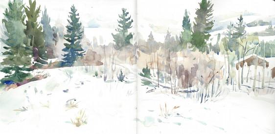 Winter View, Tetons, 2018