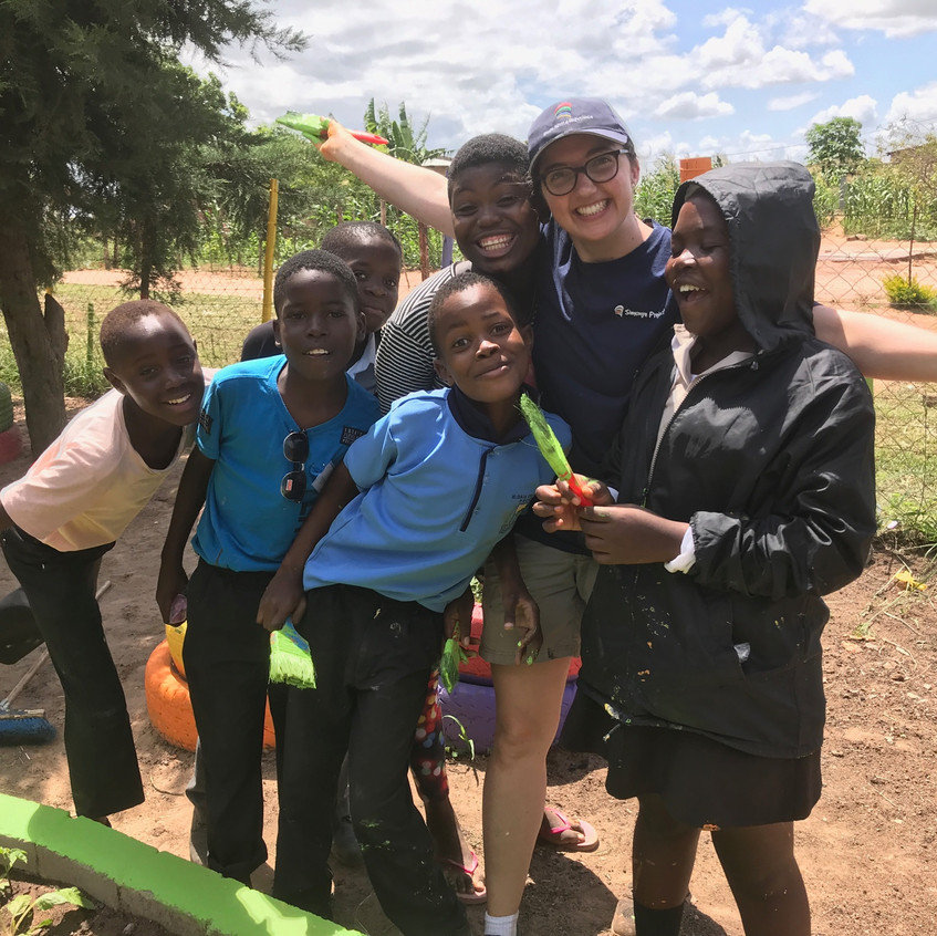Friends at Hloia Primary School
