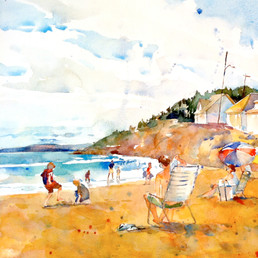 Higgins Beach, Maine, Watercolor