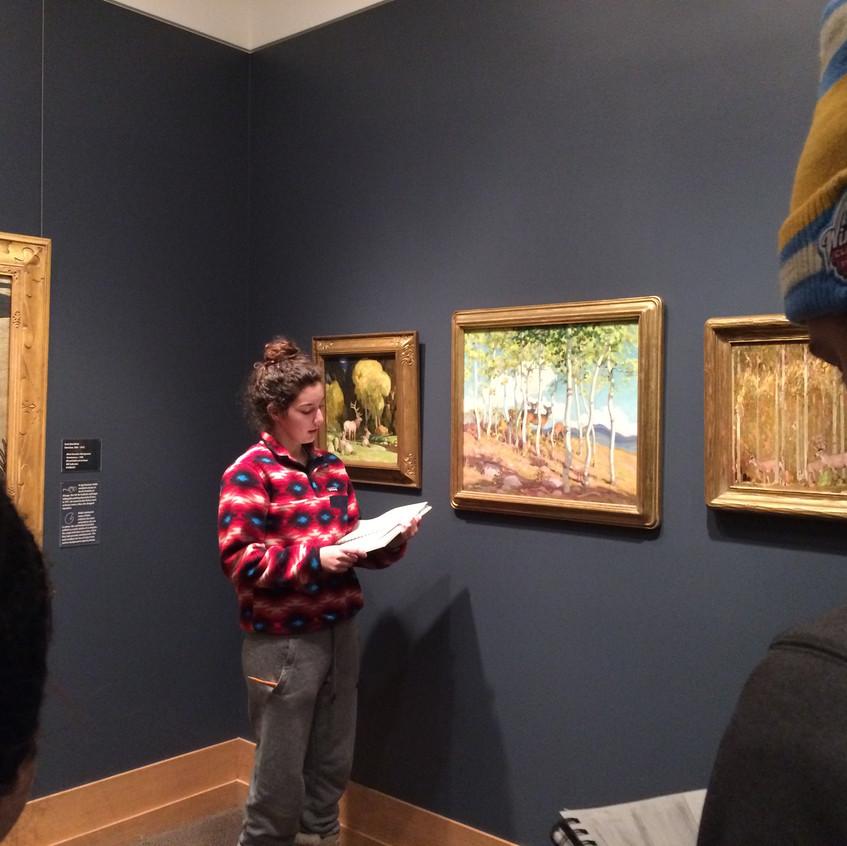 Students at Wildlife Art Museum