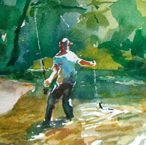 Missouri Current, Watercolor