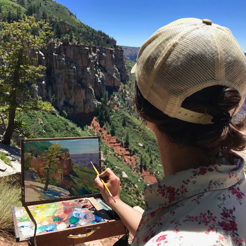 Oil Painting from the Kaibab Trail
