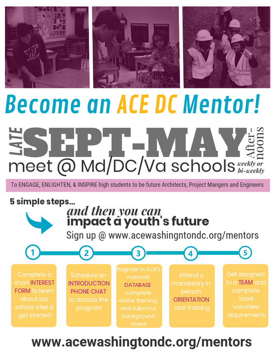 Become and ACE DC Mentor Today!
