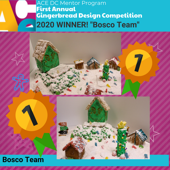 Congratulations to our Gingerbread Design Competition Winner: Team Bosco!