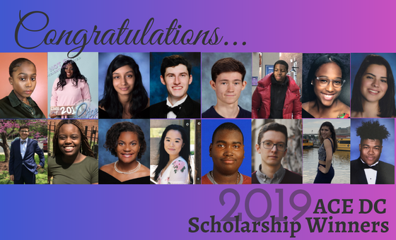 Congratulations to the ACE DC 2019 Scholarship Winners!