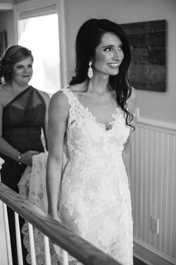 bride sees dad