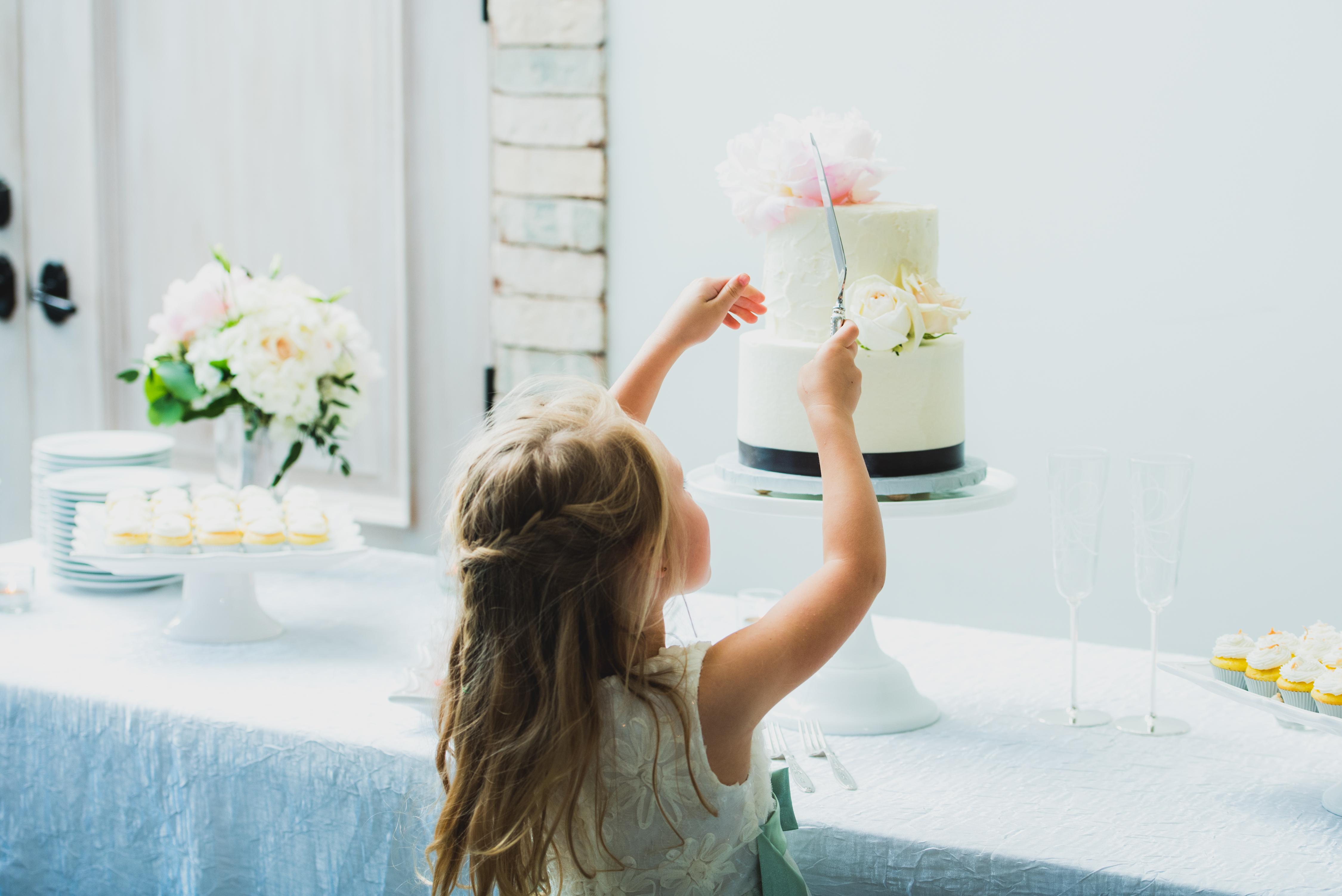 Flower Girl Likes the Cake