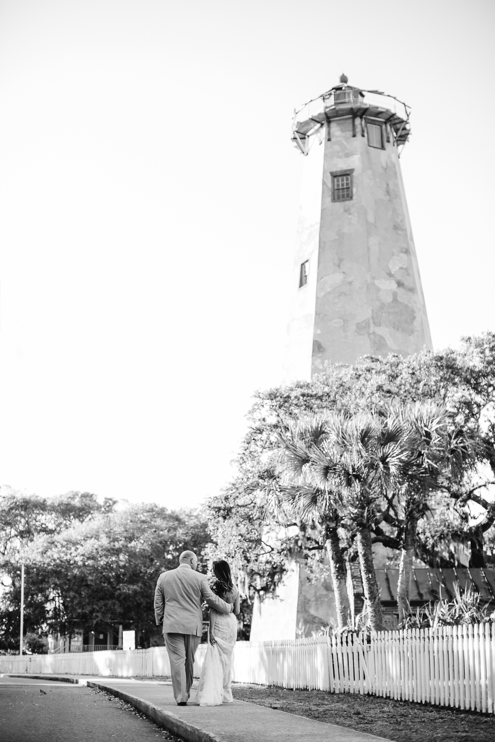 Newlyweds at Old Baldy Lighthouse