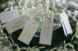 Favors doubled as escort cards