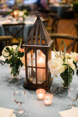 lantern & floral centerpieces
