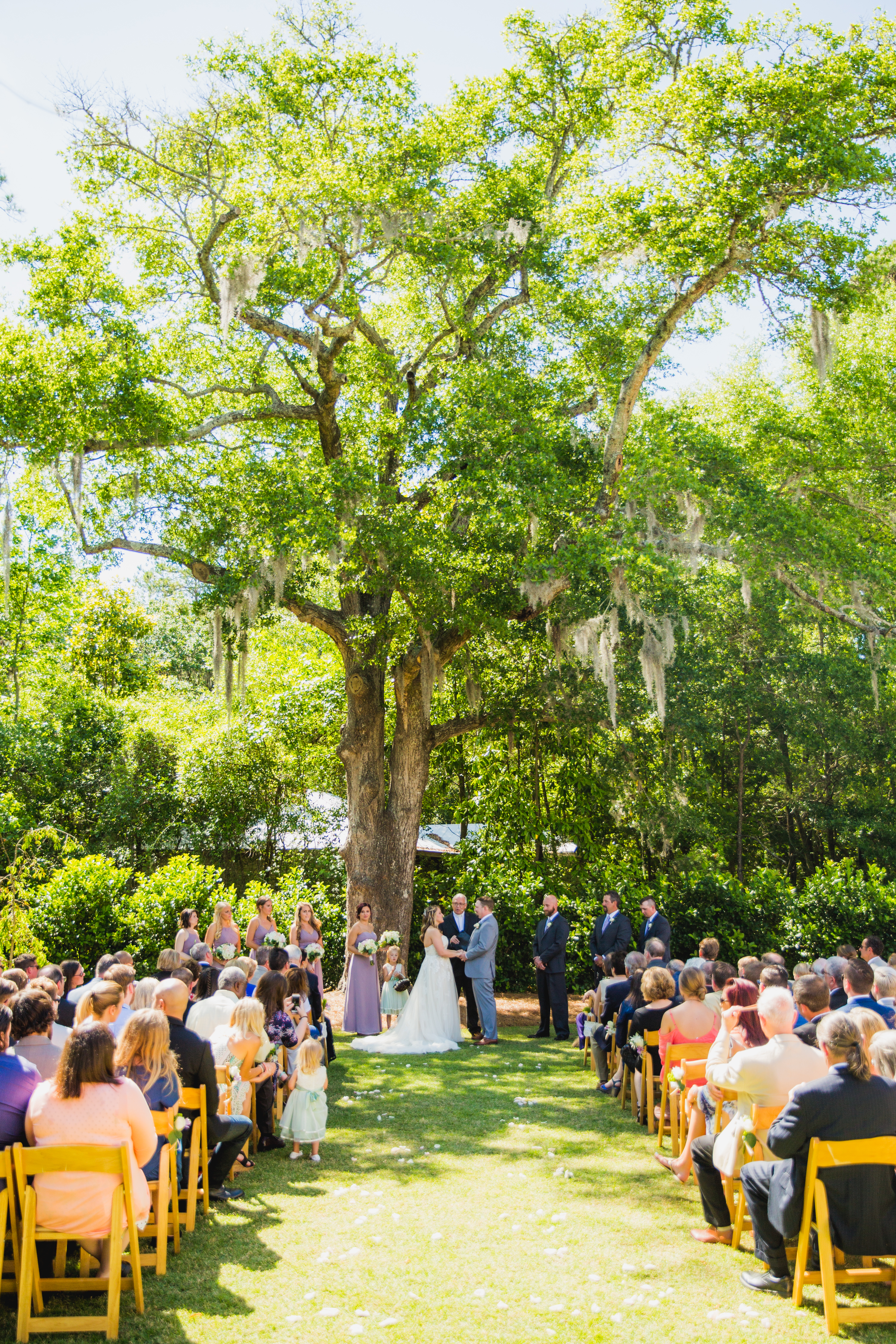 ceremony on the lawn at Wrightsville
