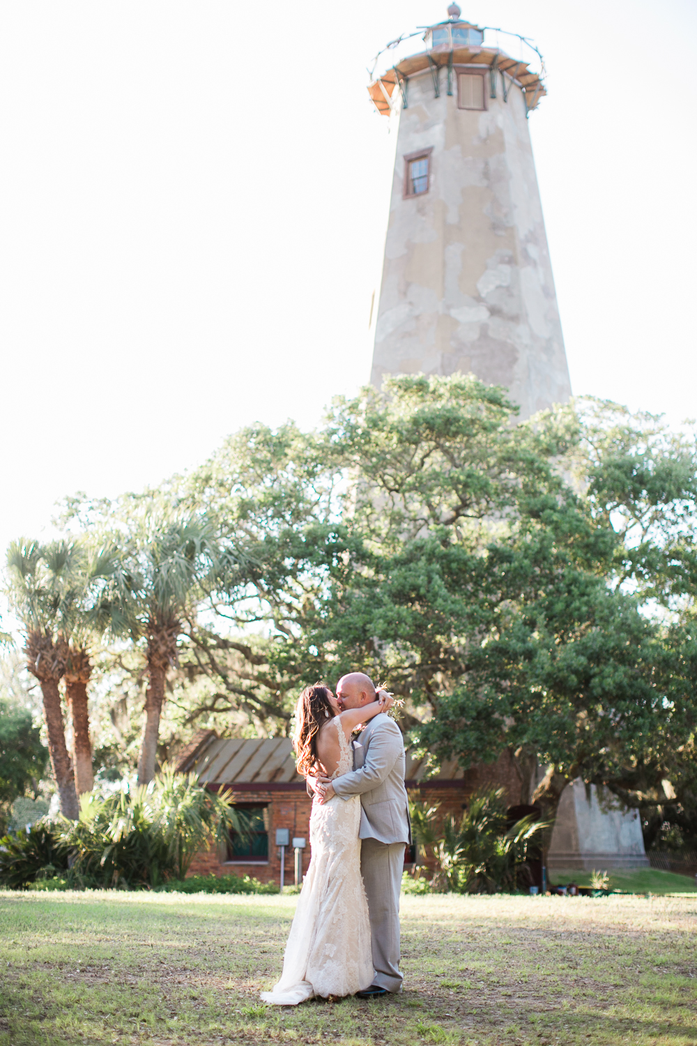 Bride & Groom at Lighthouse