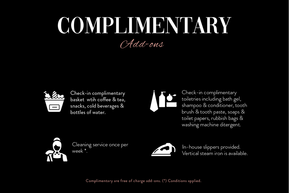 Complimentary for Delux package