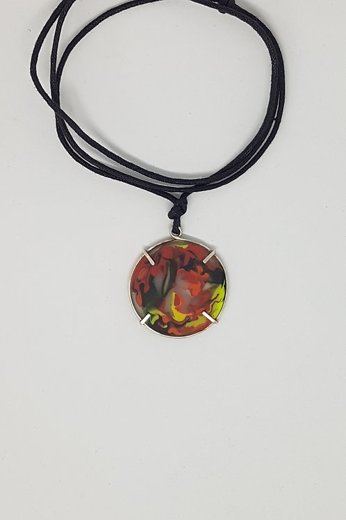 Marbled Cast Glass Pendant