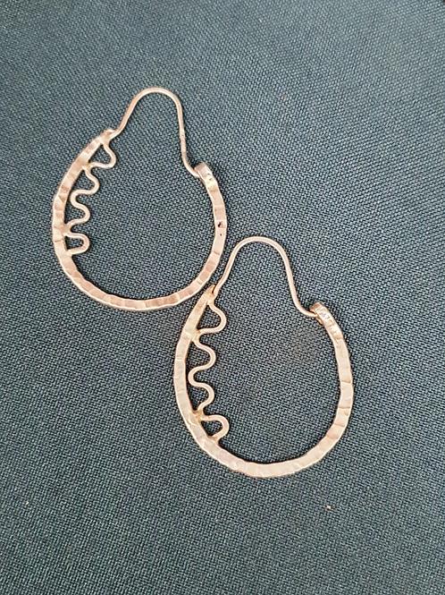 BoHo wiggle wave earrings