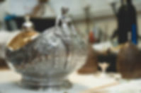 Silver Victorian boat shaped bowl