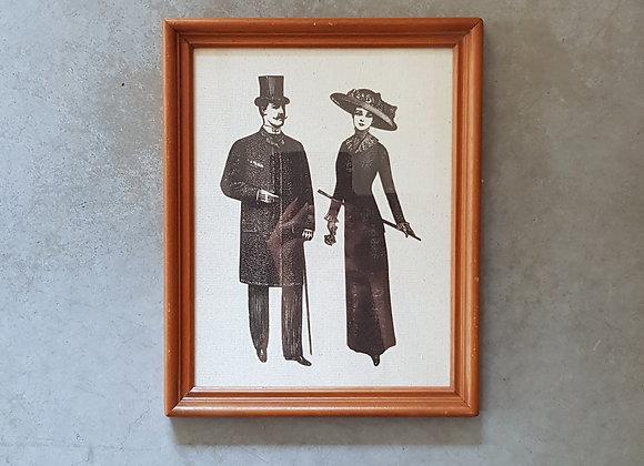 תמונת וינטג' של גבר ואישה