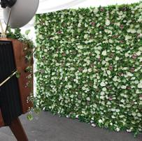 Green & White Flower Wall
