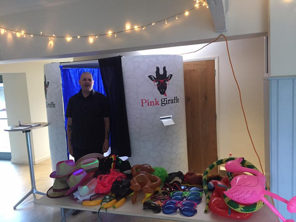 Pink Giraffe Photo Booth Hire Somerset