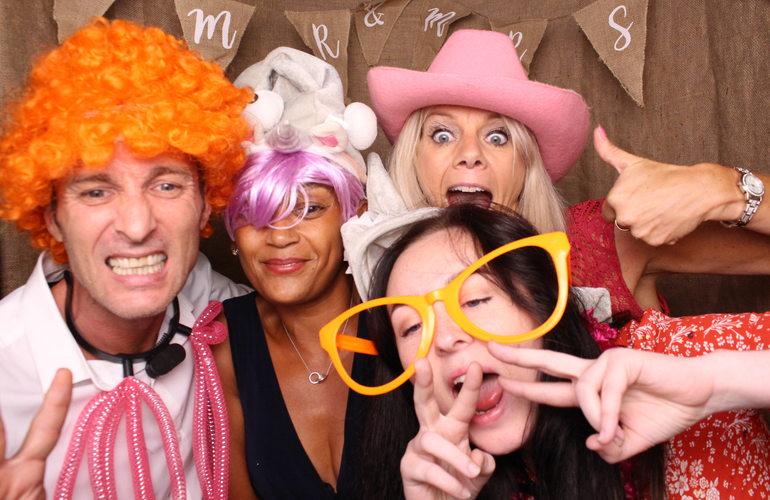 Pink Giraffe Photo Booth Wedding Fun
