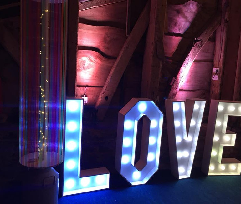 4ft LOVE Letter Hire by Pink Giraffe Photo Booth