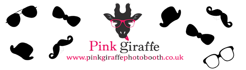 Pink Giraffe Photo Booth Banner