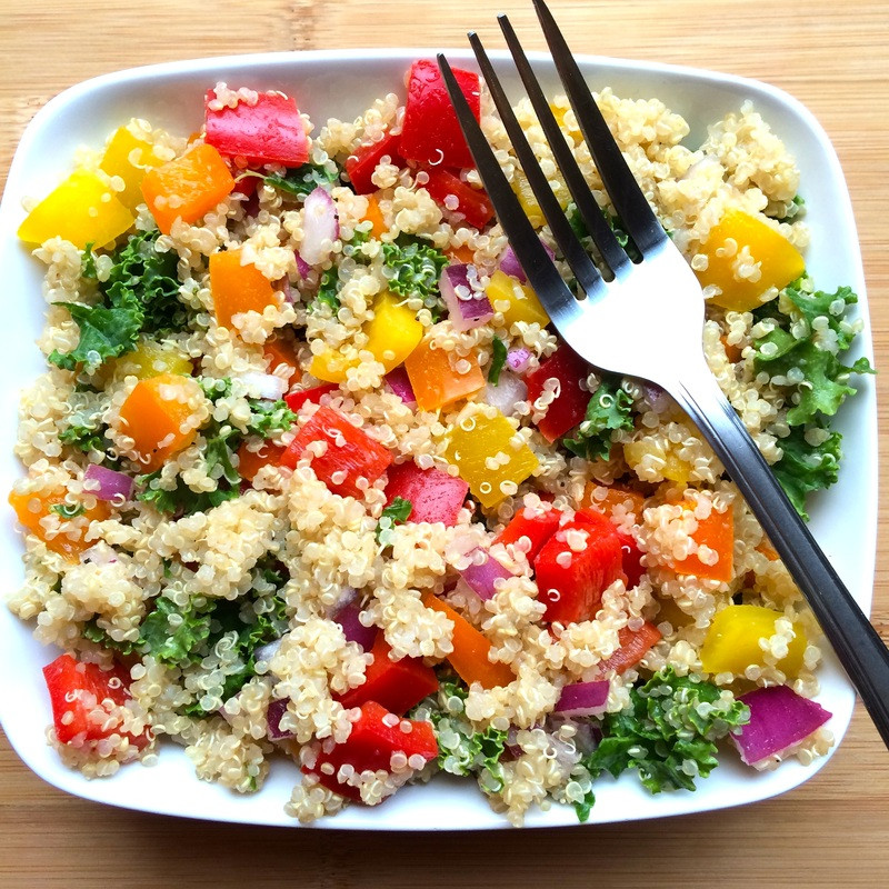 Dinner: Quinoa Salad and Roasted Vegetables