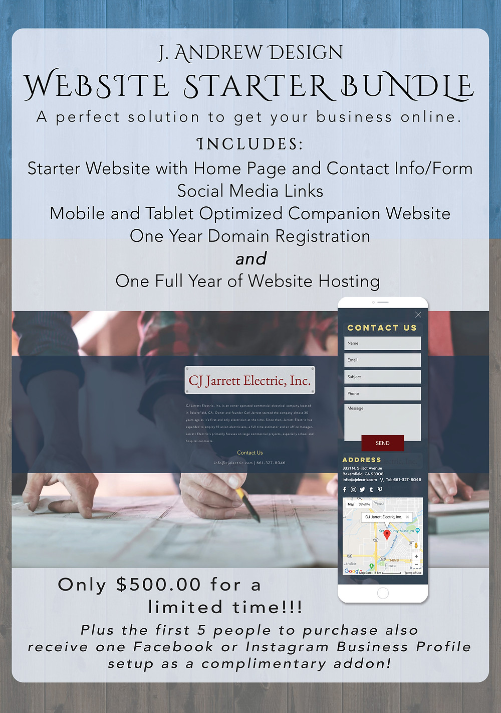 Get your business online right away!!!