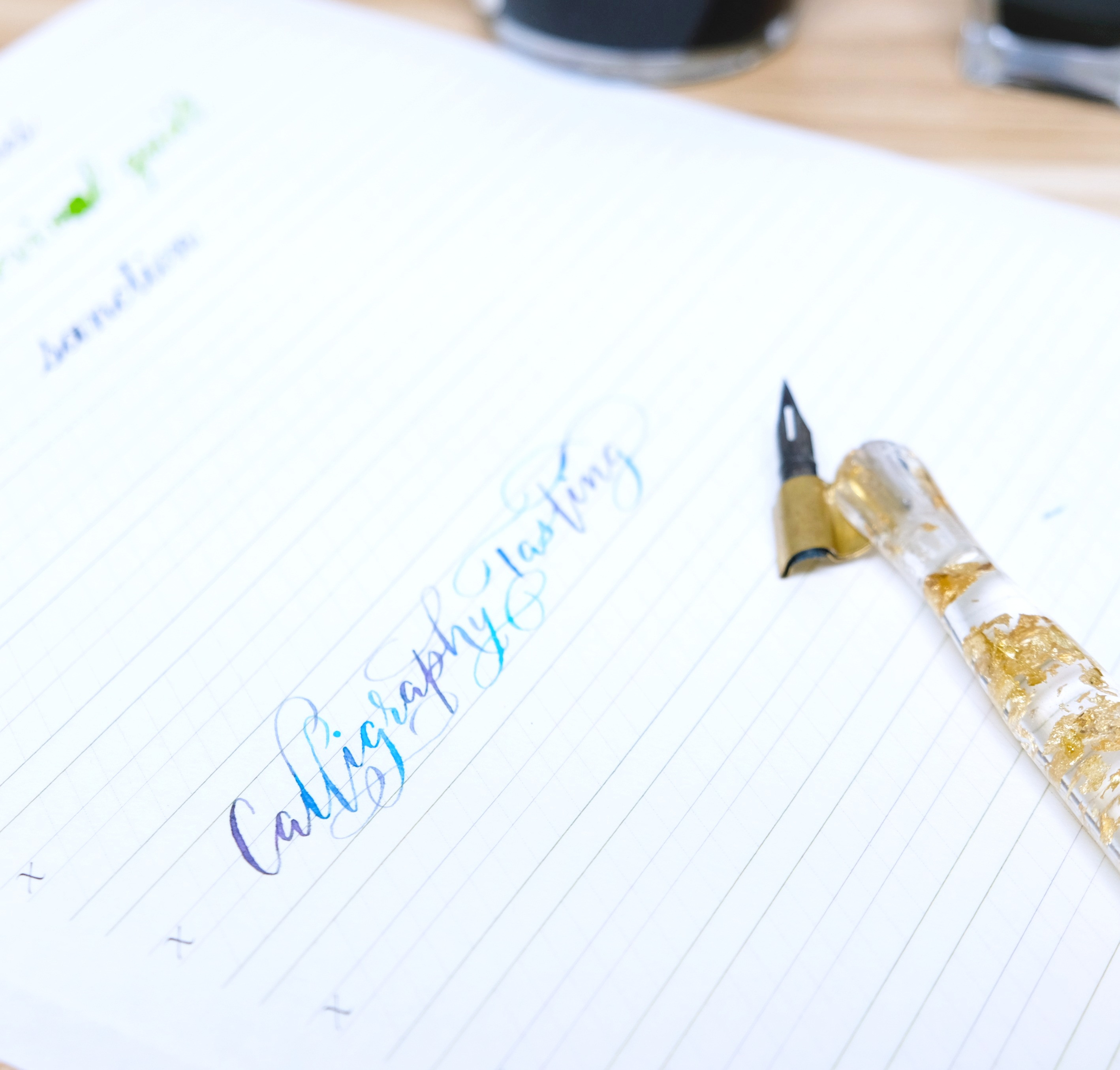 Calligraphy Tasting Workshop