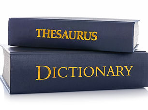 A Thesaurus and Dictionary isolated on a