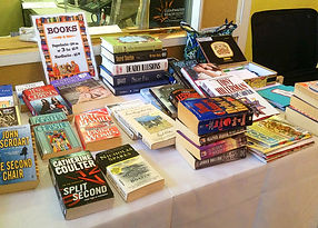 reading used books sale sold luncheon