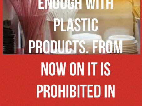 Enough with plastic product says new French legislation