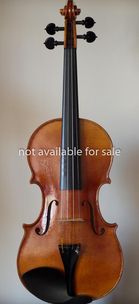Handmade violin 2011, stradivari model