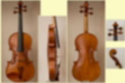 handmade 2016 violin, 1715 stradivari model, collage
