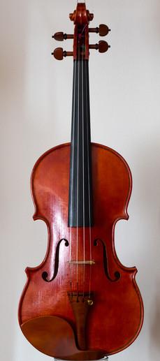 Handmade violin 2017, stradivari model, front