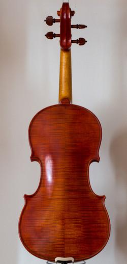 Handmade violin 2017, stradivari model, back