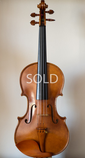 Handmade violin 2015, stradivari model, front
