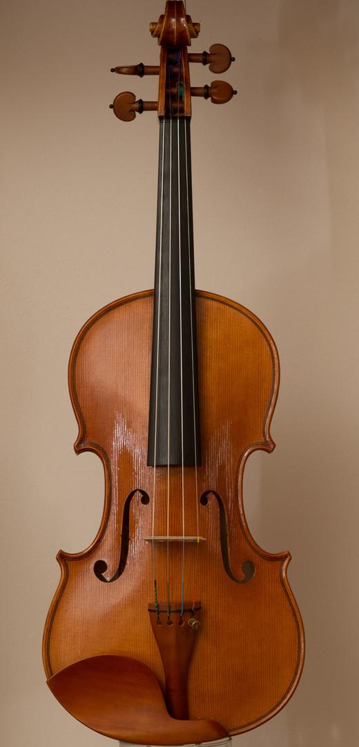 Handmade violin 2016, stradivari model, front