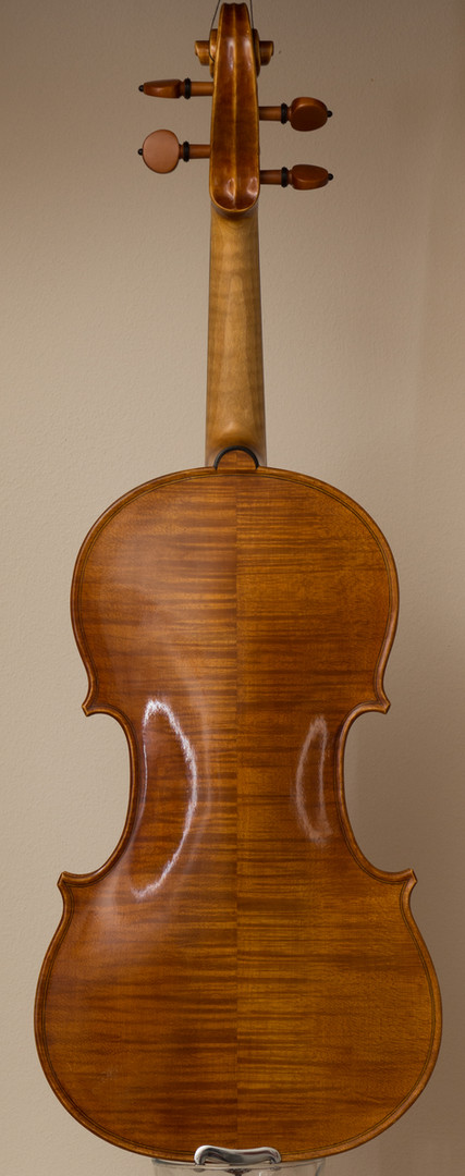 Handmade violin 2013, stradivari model, back