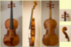handmade 2013 violin, 1715 stradivari model, collage