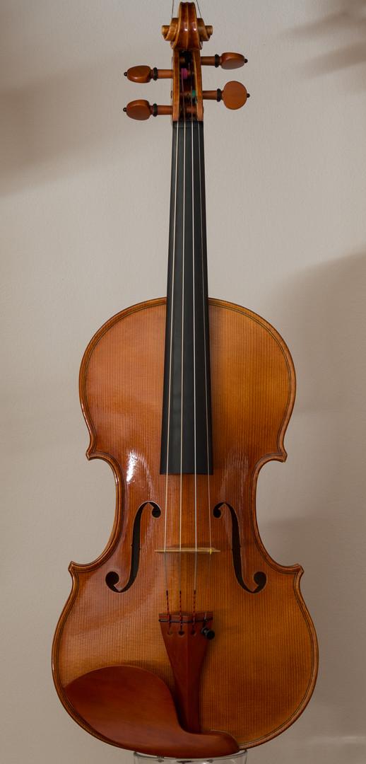 Handmade violin 2013, stradivari model, front