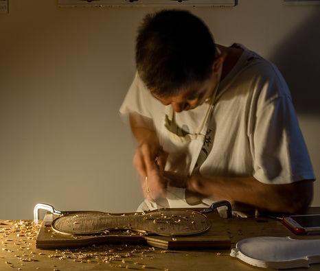 John Au, violin maker, Lancashire