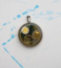 Steampunk jewelry pocket watch necklace