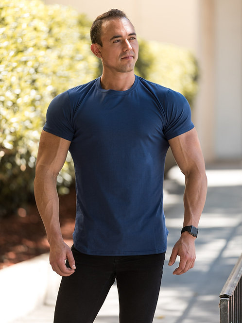 UL NAVY BLUE PERFORMANCE TEE