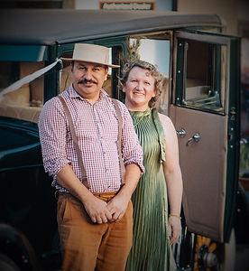 Owners Moe and Sam of Roaring Twenties Vintage Car Hire